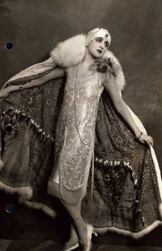 Drag Queen...Harry S. Franklyn...1920's...beautiful! Flapper dresses were a drag queens best friend...no boobs required :)