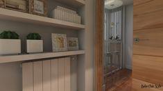 Ideas de distribución para tu salón-comedor Bathroom Medicine Cabinet, Ideas Para, Rectangular Living Rooms, Entry Hall, Tv Unit Furniture, Houses, Fire Places, Flooring, Dining Rooms