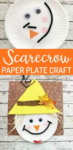 This Scarecrow Paper Plate Craft is the perfect fall craft for preschool or elementary school children. With just a few simple supplies you can turn this paper plate into an adorable scarecrow to celebrate fall or Thanksgiving! Fun Activities For Kids, Craft Activities, Preschool Crafts, Thanksgiving Crafts, Fall Crafts, Diy Crafts, Paper Plate Crafts, Paper Plates, Halloween Halloween