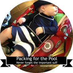 Pool-Ready Basket: ALWAYS Be Ready For The Pool {Avoid That *Awkward* Moment + an awesome coupon for Huggies Little Swimmers!}