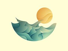Dribbble - Sunrise by Yoga Perdana