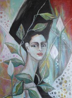 Girl Painting - Noemie by Johanna Virtanen Johanna, Original Paintings, Oil On Canvas, Artist, Fine Art America, Painting, My Arts, Instagram Images, Painting Of Girl