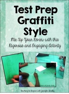cool strategy to adapt. Test Prep: Graffiti Style - This is a great test prep activity that works well with language or reading test prep. 6th Grade Reading, Reading Test, 6th Grade Ela, Fourth Grade, Reading Response, Third Grade, Math Test, Staar Test, Fun Test