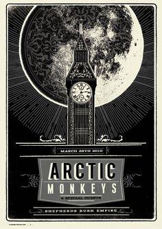 Arctic Monkeys 2010 Poster