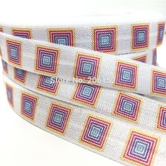 "10 yards New Arrived 5/8"" Lularoe Print White Fold Over Elastic Heat Transfer Print FOE Ribbon for DIY Headwear Hair Accessories #Affiliate"