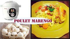 Recette du poulet façon Marengo avec le cookéo de Moulinex