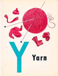 Y is for Yarn (Children's Wonder Book ) à la Alphabet Soup