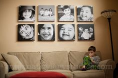 Such a good idea.  http://wenderful.com/2012/01/art-display-project-nancy-lary/