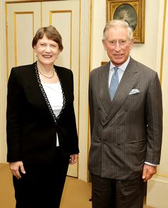 Prince Charles, Prince of Wales meets with Helen Clark, the former Prime Minister of New Zealand, in the Garden room at Clarence House on October 31, 2013 in London, England.