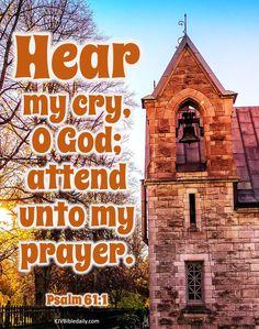 Psalm 61, Bible Verses Kjv, Prayers, God, Dios, Prayer, Allah, Beans, The Lord