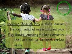 "Research is answering the question of ""do children learn through play? However, play based learning and learning through play are two different. Play Based Learning, Learning Through Play, Kids Learning, Development Quotes, Child Development, Transitional Kindergarten, Curriculum Planning, Outdoor Classroom, Play To Learn"
