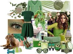 """Green"" by lindsee00 ❤ liked on Polyvore"