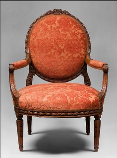 Louis XVI hand carved fauteuils.   mom's chair ..she had red toile.