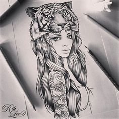 Rik lee.  I Love that she has a tattoo.  Instead of the tigers head, maybe an elephant?  I like it.: