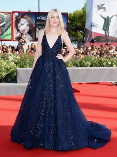 Dakota Fanning In Elie Saab Couture at the Night Moves premiere at the Venice Film Festival.