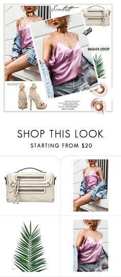 """""""Sexy Cold Shoulder Strappy Top In Pink"""" by merylicious91 ❤ liked on Polyvore featuring Martha Stewart, Nika, yoins, yoinscollection and loveyoins"""
