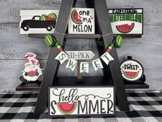 Watermelon Decor, Watermelon Patch, Arrow Decor, Truck Signs, Picture Stand, Tiered Stand, Modern Farmhouse Decor, Farmhouse Style, Wood Cutouts