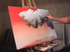 Moonlit Night Sky Clouds acrylic painting lesson a… – Home Decorations Best Acrylic Painting Techniques, Painting Videos, Painting & Drawing, Painting Clouds, Night Sky Painting, Acrylic Sky Painting, How To Paint Clouds, Black Painting, Acrylic Canvas