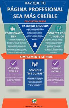 4 pasos para que tu página profesional parezca más creíble #infografia #infographic #marketing