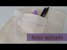 Como costurar bolso aplicado - YouTube