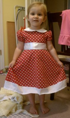 My handmade Minnie Mouse Dress FRONT
