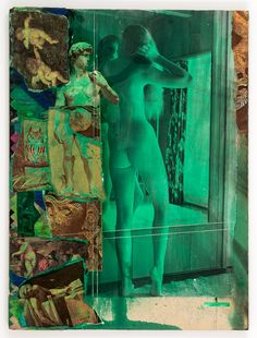 joseph cornell - untitled (standing nude before mirror), n.d., collage.