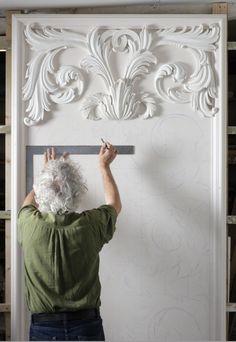Geoffrey Preston - at work http://www.elizabethmachinpr.com/geoffrey-preston-plasterworks.html