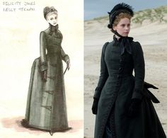 """With three months to prepare for the shoot, O'Connor visited numerous museums and immersed himself in photographs from the time period. """"To make one of those dresses, it involves quite a lot of people,"""" he tells The News, noting that everything from the corsets to the shoes were custom made for the main characters."""