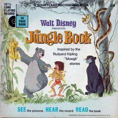 """Walt Disney """"The Jungle Book"""" Read-Along book & record set."""