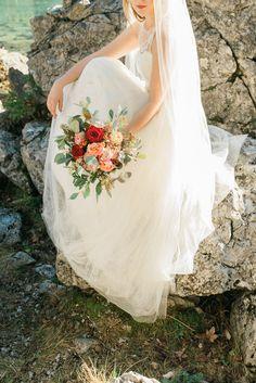 After wedding shooting   Eibsee   Bavaria   Fine Art Bride   Boho   Leonie Cappello