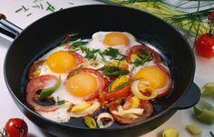 Eier-Tomaten-Pfanne - Low carb Rezepte für jeden Tag
