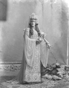 Lady Randolph Churchill (Sir Winston Churchill's mother) as the Empress Theodora, wife of the Byzantine Emperor Justinian