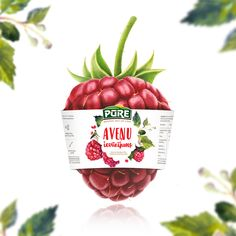 Sweet and warm countryside feel for a new raspberry jam label design.  #graphicdesign #design #lovedesign #visual #packaging #label #rusticdesign #rustic #countryside #raspberry #jam #Latvia #baticdesign #designstudio