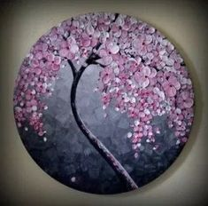 Cherry blossom tree painting on wall 62 ideas Pebble Painting, Pebble Art, Stone Painting, Diy Painting, Red Cherry Blossom, Tree Artwork, Mandala Artwork, Rock Painting Designs, Blossom Trees