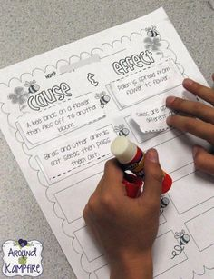 Incorporating cause and effect into our plant unit. Blog post with lots of creative and fun ideas for getting kids writing about science while teaching about the life cycle of plants.  Also includes FREE printable anchor charts for photosynthesis and parts of a plant.