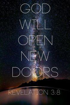 God Will Open New Doors - Revelation 3:8