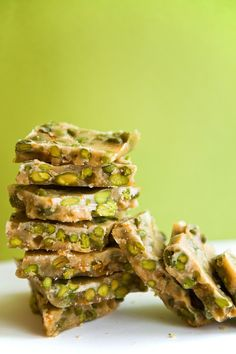 This Vanilla Pistachio Brittle is studded with pistachios, fructose-free and high in protein from Bare Blends protein powder. Could this dessert get ANY better? Yield: Makes brittles Active Time. Low Carb Sweets, Low Carb Desserts, Low Carb Recipes, Cooking Recipes, Diabetic Recipes, Ketogenic Desserts, Diabetic Foods, Raw Recipes, Bariatric Recipes