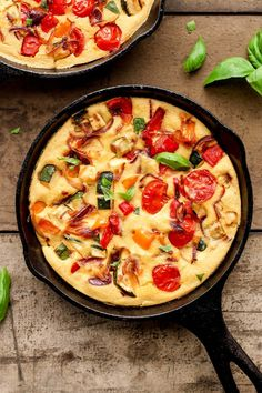 Vegan Mediterranean Skillet Quiches - Full of Plants