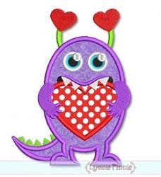 Heart Monster Applique - 3 Sizes! | Valentine's Day | Machine Embroidery Designs | SWAKembroidery.com Lynnie Pinnie