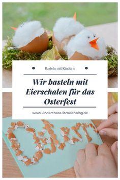 Zu Ostern spielen Eier eine ganz wichtige Rolle! Die Kinder laufen durch den Garten, Wald oder auf der Wiese und suchen die bunten Leckerein. Aber Eier können noch mehr! Zusammen mit meinen Kindern haben ich mit Eierschalen gebastelt. Osterdeko, Osterkarten und mehr! Jetzt kann der Osterhase kommen! #ostern #osterdeko #basteln #osterbastelei #eier #eierschalen #ostereier #osterhase #osterkarten #bastelnmitkindern #bastelnfürostern #kinder #familie #kindergarten