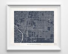 Albuquerque Street Map, $19.95 - Shipping Worldwide! [Click Photo for Details]