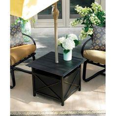 Outdoor Side Table Umbrella Hole | Http://cielobautista.com | Pinterest