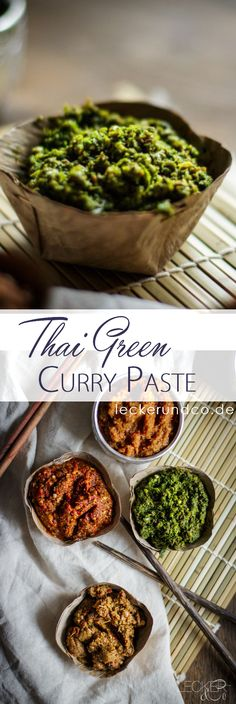 Thai Green Curry Paste | Thailändische Grüne Currypaste