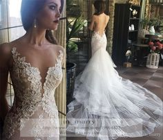 Buy wholesale galia lahav lace mermaid backless wedding dresses 2015 ...