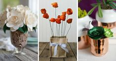 We've collected up 17 easy to follow tutorials for paper flower patterns and crafts which look so realistic they're as good as the real thing. Paper Flower Patterns, Paper Flowers, Flower Crafts, Table Decorations, Easy, Center Pieces