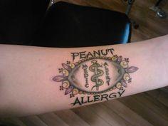 Image result for medical alert tattoo