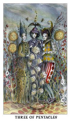 Paulina Tarot -- Three of Pentacles