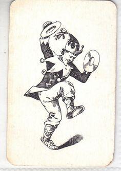 JOKER , JESTER , VINTAGE PLAYING CARD, LOT No. 31