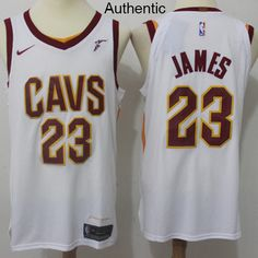Nike Cavaliers  23 LeBron James White NBA Authentic Association Edition Jersey  Nba Cleveland 03c1509a5