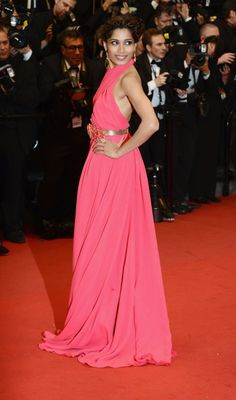 Freida Pinto at the Opening Night of The 66th Annual Cannes Film Festival at the Theatre Lumiere on May 15, 2013 in Cannes, France.